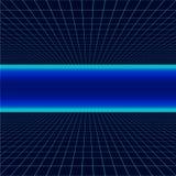 Framtida retro linje bakgrund av 80-tal Illustrationen för vågen för futuristisk synth för vektorn utformar den retro i 80-talaff stock illustrationer