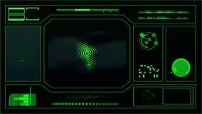 Framtida skärm 1 vektor illustrationer