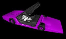 Framtida sportbil Arkivfoton