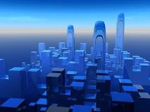 Framtida stad Arkivfoto