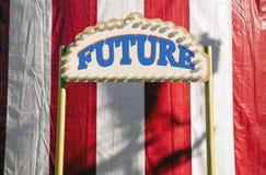 framtida tecken Arkivbilder