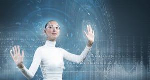 framtida teknologier royaltyfri bild