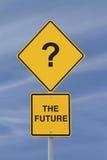 framtida vägmärke Arkivfoto