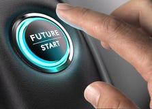 Framtiden är nu, strategisk vision royaltyfri illustrationer