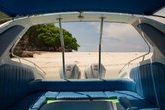 Framtidsutsikt av motorbåten Royaltyfri Foto