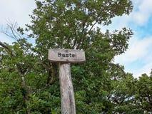 Framtidsutsikt Bastei, Bad Kreuznach Royaltyfria Bilder