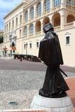 François Grimaldi staty, Monaco stad Arkivfoton