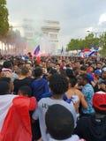 França comemora a vitória do campeonato do mundo 2018 Foto de Stock