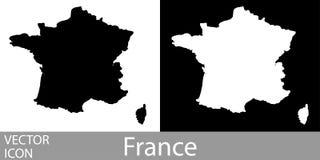 França detalhou o mapa ilustração royalty free