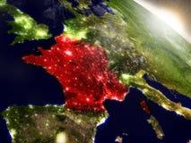 França do espaço destacado no vermelho Imagens de Stock Royalty Free