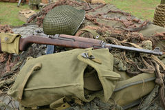 França, equipamento militar velho da segunda guerra mundial no ar s Foto de Stock Royalty Free