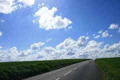França: estradas do fugitivo Foto de Stock