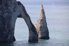 França Etretat 29 de junho de 2014 fotografia de stock