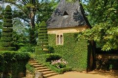 França, Jardins pitoresco du Manoir d Eyrignac em Dordogne Imagem de Stock