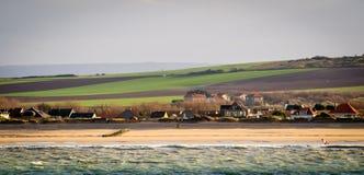 França, litoral do norte perto de Calais Fotos de Stock Royalty Free