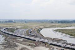 FRANÇA, MONT-SAINT MICHEL - 29 DE JULHO DE 2014: Construção monatyry Imagem de Stock