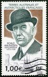 FRANÇA - 2012: mostras Roald Engelbregt Gravning Amundsen 1872-1928, explorador norueguês de regiões polares Imagem de Stock
