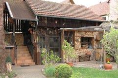França na casa de madeira Foto de Stock Royalty Free