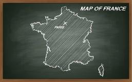 França no quadro-negro Fotografia de Stock Royalty Free