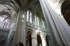 França Normandy Bayeux 30 de junho de 2014 interior imagens de stock royalty free