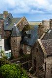 França. Normandy. Mont Saint-Michel. Fotos de Stock Royalty Free