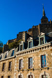 França. Normandy. Mont Saint-Michel. Foto de Stock Royalty Free