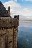 França. Normandy. Mont Saint-Michel. Imagens de Stock