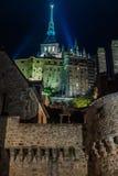França. Normandy. Mont Saint-Michel. Fotos de Stock