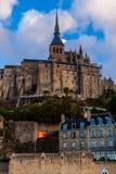 França. Normandy. Mont Saint-Michel. Fotografia de Stock Royalty Free