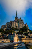 França. Normandy. Mont Saint-Michel. Foto de Stock