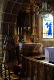 França. Normandy. Mont Saint-Michel.  Jeanne D'Arc Foto de Stock Royalty Free