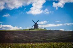 França. Normandy. Mont Saint-Michel. Moinho Fotografia de Stock Royalty Free