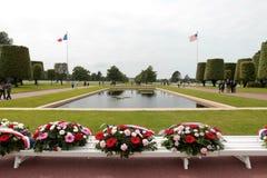 França, Normandy, o 6 de junho de 2011 - cemitério dos soldados do exército aliado que caiu durante a operação em Normandy Fotos de Stock