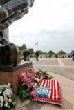 França, Normandy, o 6 de junho de 2011 - complexo memorável na memória de aterrissagens aliadas de Normandy Fotos de Stock Royalty Free