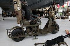 França, Normandy, o 6 de junho de 2011 - motocicleta, que foi usada pelos aliados durante a operação em Normandy em 1944 Imagem de Stock
