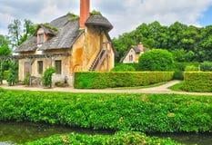 França, a propriedade de Marie Antoinette no parc do Pa de Versalhes Foto de Stock Royalty Free