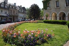 França, Vendome, flores na rua Fotos de Stock Royalty Free