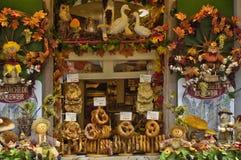 França, vila pequena de Riquewihr em Alsácia Fotos de Stock