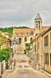 França, a vila pitoresca de Vetheuil Fotos de Stock Royalty Free
