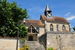 França, a vila pitoresca do sur Epte de Montreuil Imagem de Stock Royalty Free