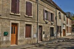 França, a vila pitoresca dos carvões animais imagens de stock