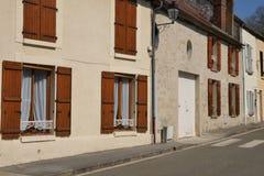 França, a vila pitoresca dos carvões animais imagens de stock royalty free