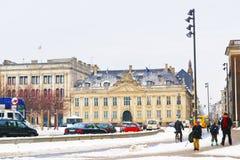 Français Ambassy au Roi New Square en hiver Copenhague Photo libre de droits