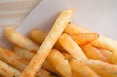 Français chaud frit avec l'assaisonnement Image stock