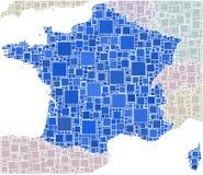 Français dans une mosaïque colorée Photo stock