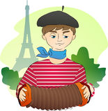 Français sous Tour Eiffel Photos libres de droits