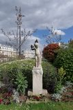 Françoise-Giroud garden in Paris royalty free stock image