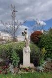 Françoise-Giroud garden in Paris royalty free stock image