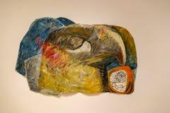 Françoise Sullivan painting at MAC Museum stock photos