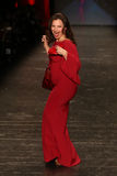 Fran Drescher. NEW YORK-FEB 11: Fran Drescher wears Le Petite Robe di Chiarra at Go Red for Women Red Dress Collection 2016 Presented by Macy's at New York Royalty Free Stock Images
